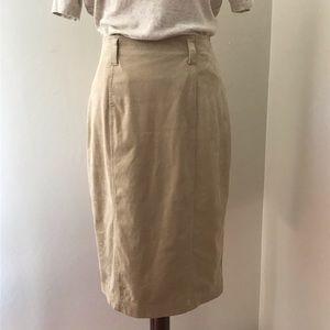 Vintage Diane Gilman Suede Pencil Skirt